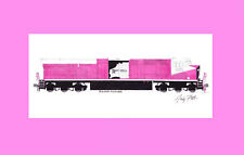 "Roy Hill ES44ACI Pink Ribbon Awareness 11""x17"" Matted Print Andy Fletcher signed"