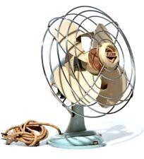 Vintage Elcon Oscillating Electric Fan RETRO Australian Industrial 1950s WORKING