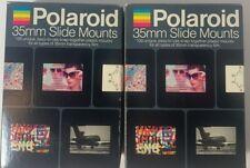 Polaroid Caches 35mm Slide Mounts 2 New/Unused Boxes (200 Slides)