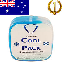 Freezer Ice Packs, Reusable Ice Packs, Slim, Ice Bag, Ice Bricks - 3 Pack