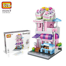 LOZ Street Mini Block Building Blocks Architecture DIY Toy Cake Shop Figure