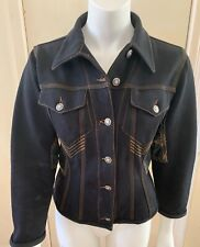 Women's Vintage 90's Rare Jean Paul Gaultier Black Denim Jacket Size M-L