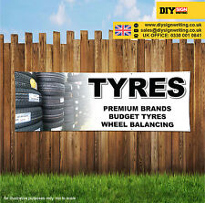PREMIUM BUDGET TYRES AND BALANCING Shop Large Outdoor PVC Banner Sign ID 1945