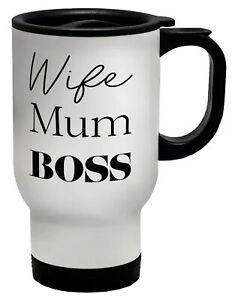 Wife Mum Boss Travel Mug Cup
