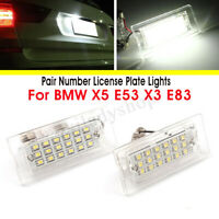 Paire 12V 18 LED Feux Eclairage Plaque for BMW X5 E53 1999-2006 X3 E83 2003-2010