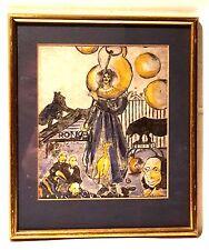 Zirkus Roncalli Clown Pic mit Seifenblasen Originalgrafik 9/20  1981 Irene Reere