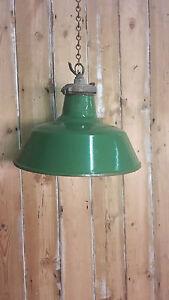 Retro Green Enamel Industrial Lights Shades Light