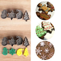 Food Fondant Tree Christmas Biscuit Mold Cookie Cutter Plunger Baking Mould