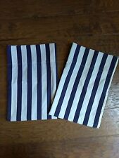 Ralph Lauren Polo Blue White Striped Standard Pillowcases Vintage Made in USA