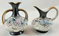 "Vintage Dragonware Moriage Miniature Vase Handles 2 1/2"" Japan&Vase Pitcher Japa"