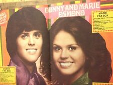 Donny and Marie Osmond, Osmonds Brothers, Double Two Page Centerfold Poster