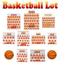 200 BASKETBALL SLAM DUNK LOT APPLE ZIPLOCK Baggies MANY SIZES BASKETBALLS