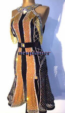 L1490 Ballroom Rhythm salsa Latin samba swing dance dress UK 10 Bead fringes