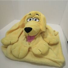 "Jay Play  ""Cuddle Uppets"" Plush Blanket Yellow Dog"