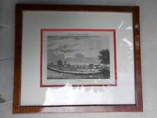 Ancien tableau lithographie France pittoresque Colmar Alsace vue signé encadré