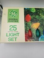Vintage GE  Christmas Lights, Set of 25, L9-25