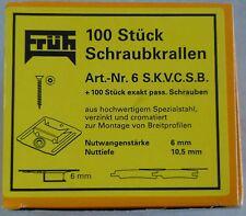 FRÜH Schraubkrallen Nr. 6 Profilbrettkrallen für Nutwangenstärke 6 mm