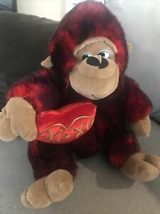 Gorilla Ape Monkey Plush Stuffed Animal Dan Dee Collector Valentines Xoxo Heart
