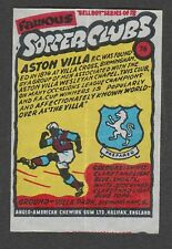 Anglo-American Gum Bell Boy wax wrapper Famous Soccer Clubs #78 - Aston Villa