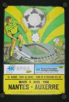 Affiche football match FCN Nantes Auxerre AJA 5 avril 1988 stade Beaujoire