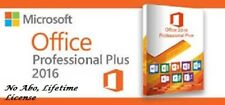 Microsoft Office 2016 Professional Plus;1PC ; Produkt Key; 32&64 Bit; EXPRESS