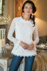Soft Surroundings Lilith White Top Large