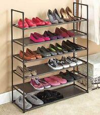 6-Tier Storage Shoe Rack 24 Pair Shoe Organizer Stackable Space Saving Bedroom