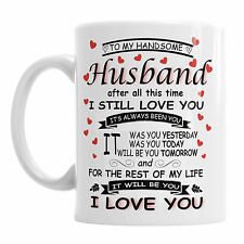 To My Handsome Husband Valentine's Day Mug Father's Dad Valentines Coffee