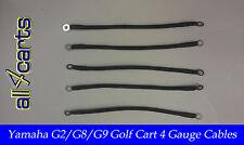 Yamaha G2 Golf Cart Battery Cable Set   4 Gauge for 36 Volt g12Cset All4Carts