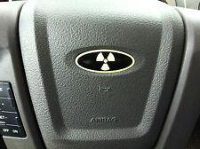RADIOACTIVE RADIATION Ford Steering Wheel Oval Emblem Decal Overlay