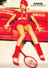 POSTER : TENNIS:   ANNA KOURNIKOVA - ALL RED  - FREE SHIPPING !!   LC25 M