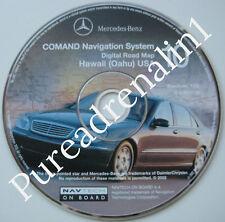 01 2002 03 MERCEDES S430 S500 S55 S600 AMG NAVIGATION MAP DISC CD 10 HAWAII OAHU