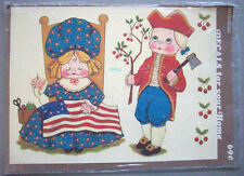 Martha? Betsy Ross George Washington Meyercord decals Patriotic