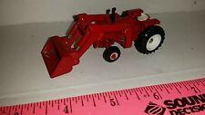 1/64 CUSTOM AGCO WHITE COCKSHUTT 1555 TRACTOR W/ RED LOADER ERTL FARM TOY