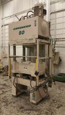 50 Ton Greenerd 50 Ton 4 Post Hydraulic Press 20 Stroke 2675 Daylight 36 X 3