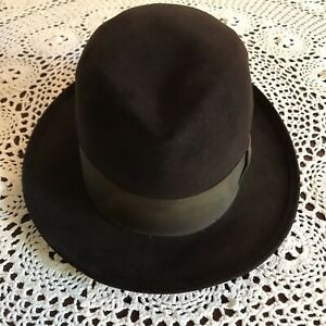 """Vintage Royal Stetson Mans Hat Size 7 Brown 2 1/4"""" Brim John H Stetson Co"""