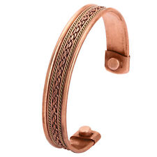 Magnetic Copper Bracelet Magnets Healing Therapy Bio Elegant Lines Bangle Cuff
