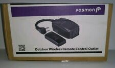 Wireless Remote Control Outlet Switch Weatherproof Heavy Duty 3 Prong Plug In(i)
