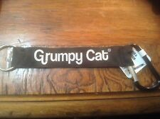 "Gund Grumpy Cat Meme Love is Overrated Lanyard and Carbiner 8"" NWT"