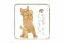 Ginger and White Cat Drink Coaster