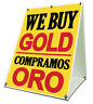 """We Buy Gold Compramos Oro Sidewalk A Frame 18""""x24"""" Outdoor Store Retail Sign"""