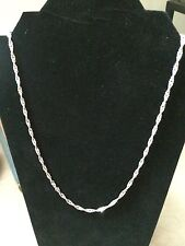 Vintage Sterling Silver .925 24 inch Twisted Cuban Link Necklace