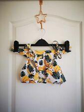 Zaful banana print bikini size small