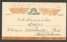 DATED 1943 PC WILSON JONES PAPER STATIONERY & SYSTEMS SALES MANS CALLING CARD