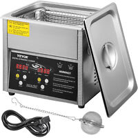 VEVOR 3L Ultrasonic Cleaner Cleaning Equipment Industry Heated W/ Timer Heater