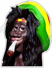 """Rastaman Rasta Bob Marley Weed Cannabis Car Bumper Vinyl Sticker Decal 3.6X5"""""""