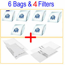 6 Bags + 4 Filter Fits Miele GN Vacuum Cleaner Hyclean 3D Type Cat n dog Blue