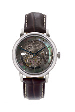 Skeleton Watch Automatic British Built Limited Edition Black Pearl