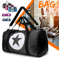 Men Women Large Waterproof Gym Sport Shoulder Handbag Weekend Luggage Travel