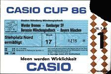 Billet 26.07.1986 Casio Cup werder Bremen, HSV, le Bayern de Munich, Mönchengladbach